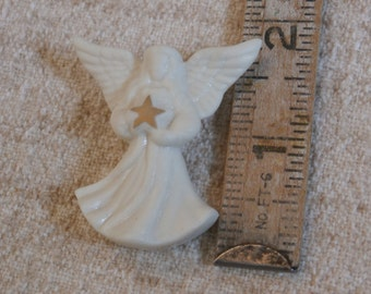 Vintage Lenox Christmas Angel Brooch Pin With Star