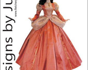 """Princess Gown Pattern for 16"""" Tyler Wentworth Dolls Tonner"""