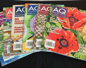 American Quilter Magazines- 2014 Complete Year- 6 Issues - Like New Condition