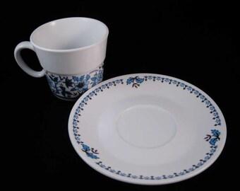 Noritake Progression Blue Moon Tea Cup/Coffee Cup & Saucer #9022
