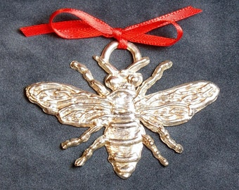 Honey Bee Pewter Ornament
