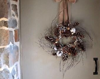 Gift of the Magi Wreath - Christmas Wreath - Natural Christmas - Woodland Christmas