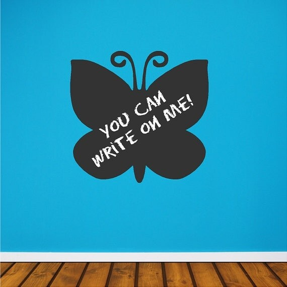 Chalkboard Vinyl Butterfly Wall Decal Sticker Removable And