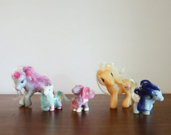 set of 5 my little ponies