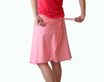 Wrap skirt, Plus size wrap skirt, Plus size clothing, Womens skirts, A line skirt, Pink skirt, Custom made skirt