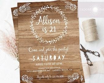 St Birthday Invite Etsy - 21st birthday invitations gold coast