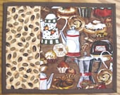 Coffee Carafes and Muffins Mug Rugs - Set of 2