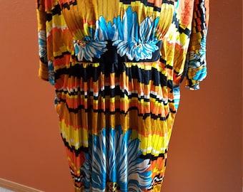 Vintage Multicolor V-Neck Sundress