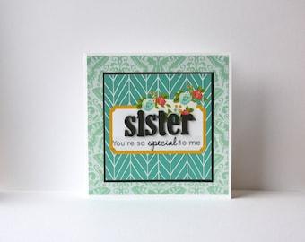 Sister Handmade Card