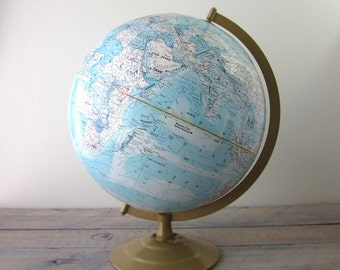 Vintage School House Globe with Metal Base by Globemaster