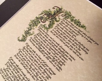If by Rudyard Kipling/for 8x10/ on 8 .5 x 11inches for easy matting/print of hand lettered original, Paper only, If by Rudy