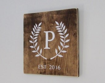 Wood Signs, Rustic, Wedding Gift, Names, Monogram, Family Name, Wall Decor, Home Decor, Reclaimed Wood, Farmhouse, Living Room, Home