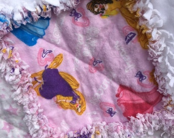 Child's Princess Flannel Rag Quilt