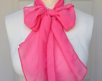 Multi Use Chiffon Hair Scarf - Bubble Gum Pink