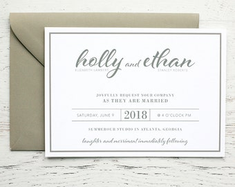 Holly Custom Wedding Invitation