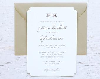 Patricia Custom Wedding Invitation