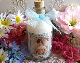 Flirty Little Secretes  Salts, Dead Sea Salt, Bath Salts in Corked Apothecary Bottle