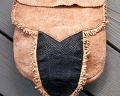 RESERVED for alienmonk  Mountain Man Brain Tanned Deer Hide Possibles Bag with Tanned Beaver Tail Flap