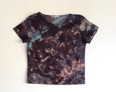 Tie Dye Mineral Tee  in Black Blue and Pink XS/S