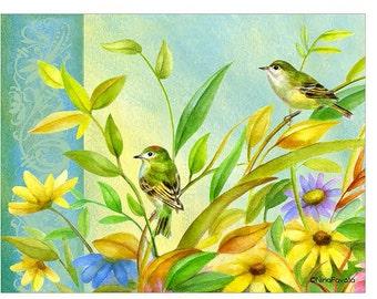 Garden Perch blank notecard