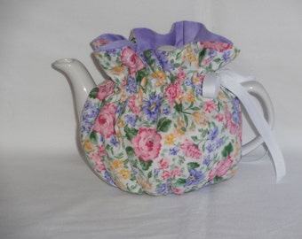 2 Cup Pretty Floral Reversible Teapot Cozy