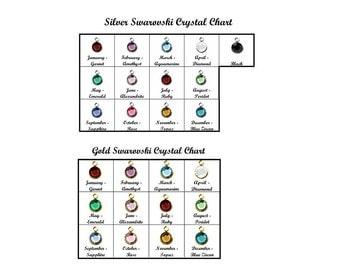 Swarovski Crystal Charm Channel Drop Charm • Silver Crystal Round Gold Crystal Birthstone Swarovski Charm Extra Crystal Jewelry