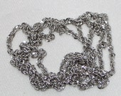 "10k sparkly white gold serpentine chain ~ 32"" long ~ 8 grams heavy ~ made in Italy ~ necklace"