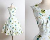 vintage 50s dress   vintage 1950s dress   can can dancers novelty print xs/s   5744