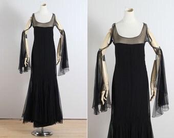 Enchanted Moonlight . vintage 1920s dress  . vintage flapper dress . 5447