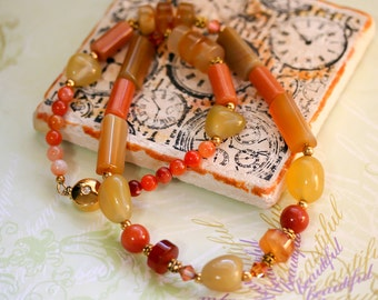Necklace. Beaded Necklace. Gemstone Necklace. Statement Necklace. Necklace and Earring Set