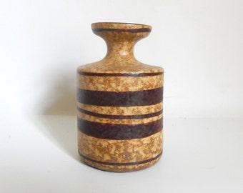 Vintage Handmade Clay Pottery Jar / Bud Vase
