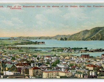 Panorama Exposition Site Golden Gate San Francisco California 1910s postcard