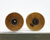 2 Vintage Bobbins - Spools - Store your twines and ribbons - DIY and photoshoots - OOAK S98