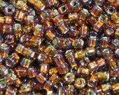 Matsuno AB Topaz (with Silver Lined Square Hole) Round 6/0 Seed Bead
