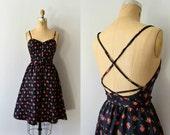 RESERVED LISTING -- Vintage 1970s Dress - 70s Open Back Floral Cotton Sundress