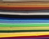 Individual Fat Quarters (1.70 each) or Half Yard Cuts (3.40 each) of Kona Solid Fabric, Quilt Fabric, Sewing, Quilting, 100% Cotton Fabric