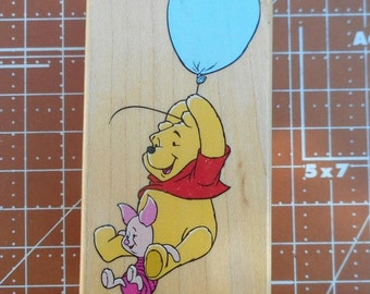 Winnie the Pooh and Piglet High Flying Rubber Stamp 997-G01