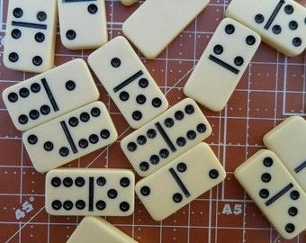 Vintage Mini Dominoes 12 plastic pieces