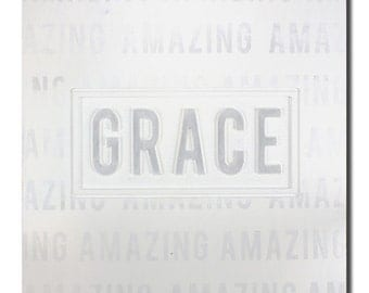 NEW - Amazing Grace Sign Nursery Wood Sign