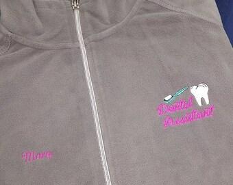Dental Assistant Embroidered Fleece Jacket