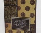 Seek Me And Find Me Blank Christian Encouragement Card With Scripture