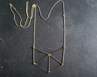 Free Shipping - Geometric Necklace - Gold