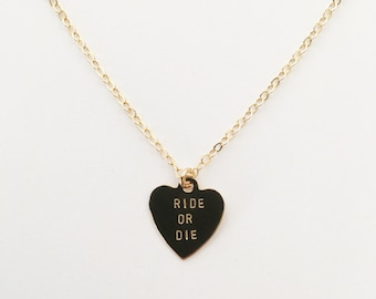 Ride Or Die Charm Necklace