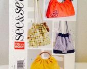 Uncut, Butterick See & Sew Easy Purse Pattern B4645, 4 Designs, Craft Pattern, Handbag, Bag, Gifts To Make, Gift