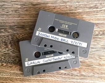 Vintage 1980s Grateful Dead Bootleg Cassette Tapes - Set of 4 - 1971 Boston - Capitol Theater Passaic 1982 & More - Sound Board Recordings