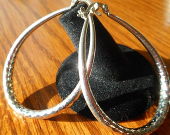 Big Sterling Silver Earrings