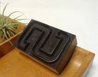 Outline Letterpress S Wood Type Letter S Initial Freestanding Vintage