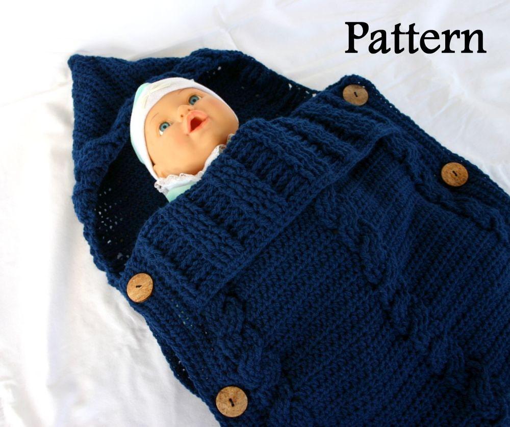 Baby Sleeper Pdf Crochet Pattern Infant Hooded Cocoon