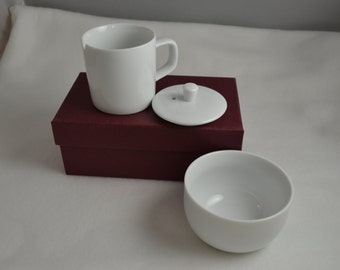 SALE, White Porcelain Tea Tasting Set, porcelain, tea brewing and tasting supplies