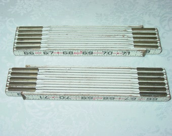 Vintage Two Vintage Wood Carpenter Folding Rulers Lufkin Universal White 72 Inches 6 Feet